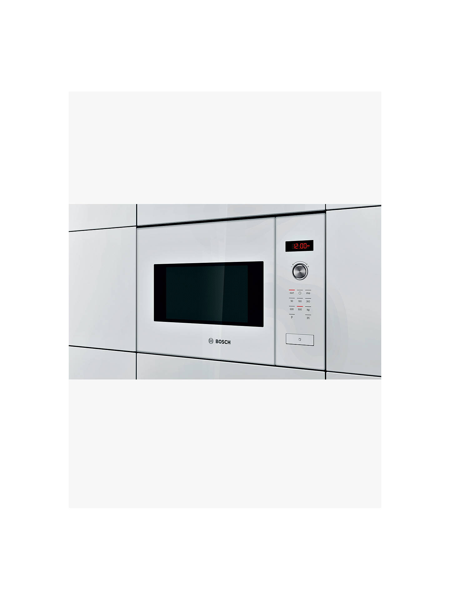BuyBosch HMT84M624B Built-In Compact Microwave Oven, White Online at johnlewis.com