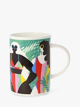 EAST END PRINTS Tropical Huns Mug, Multi, 300ml