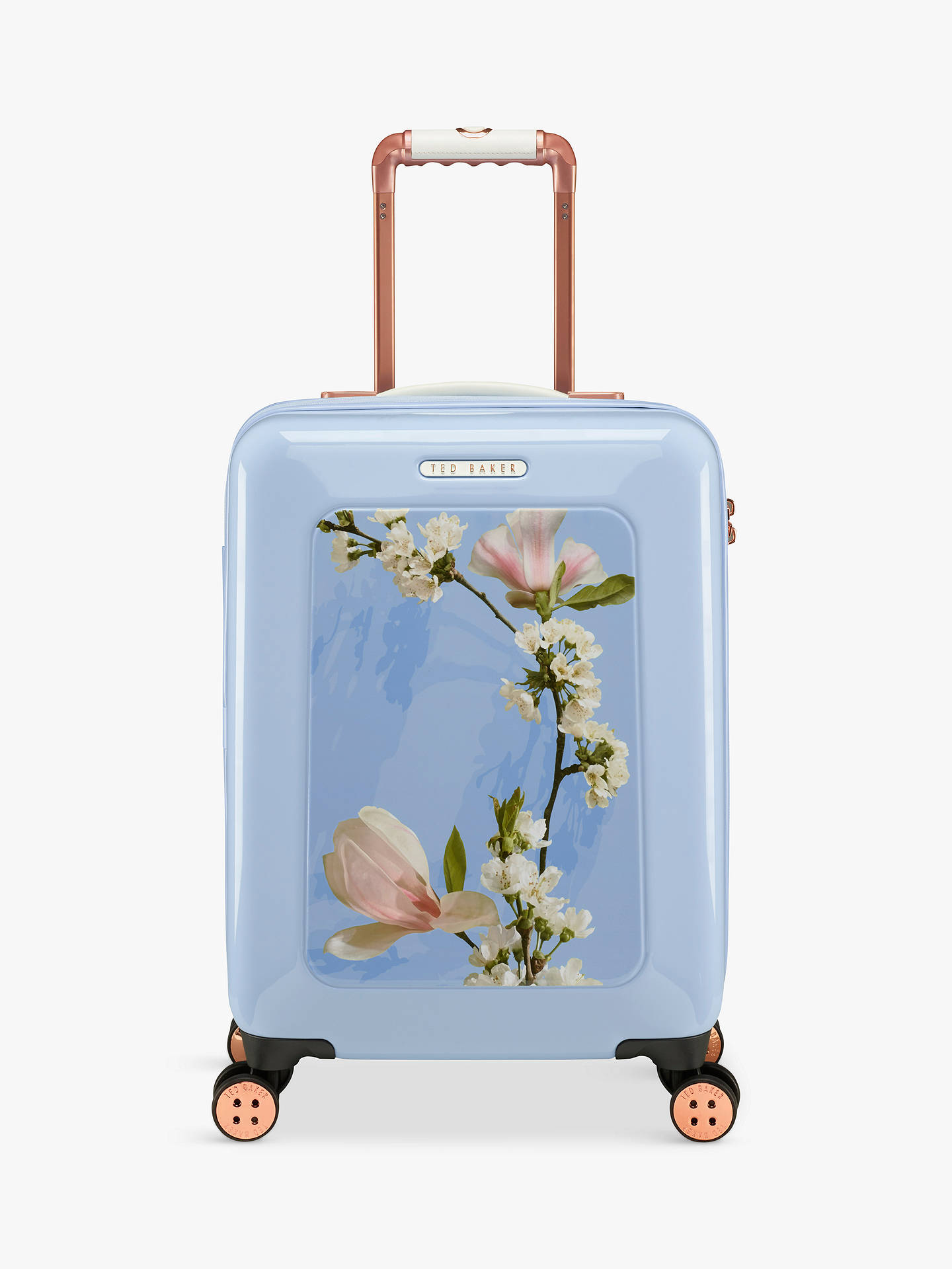 8c7bb7537 Buy Ted Baker Harmony 4-Wheel 54cm Cabin Suitcase, Blue Online at johnlewis.