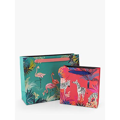 Image of Sara Miller Green Flamingo Gift Bag