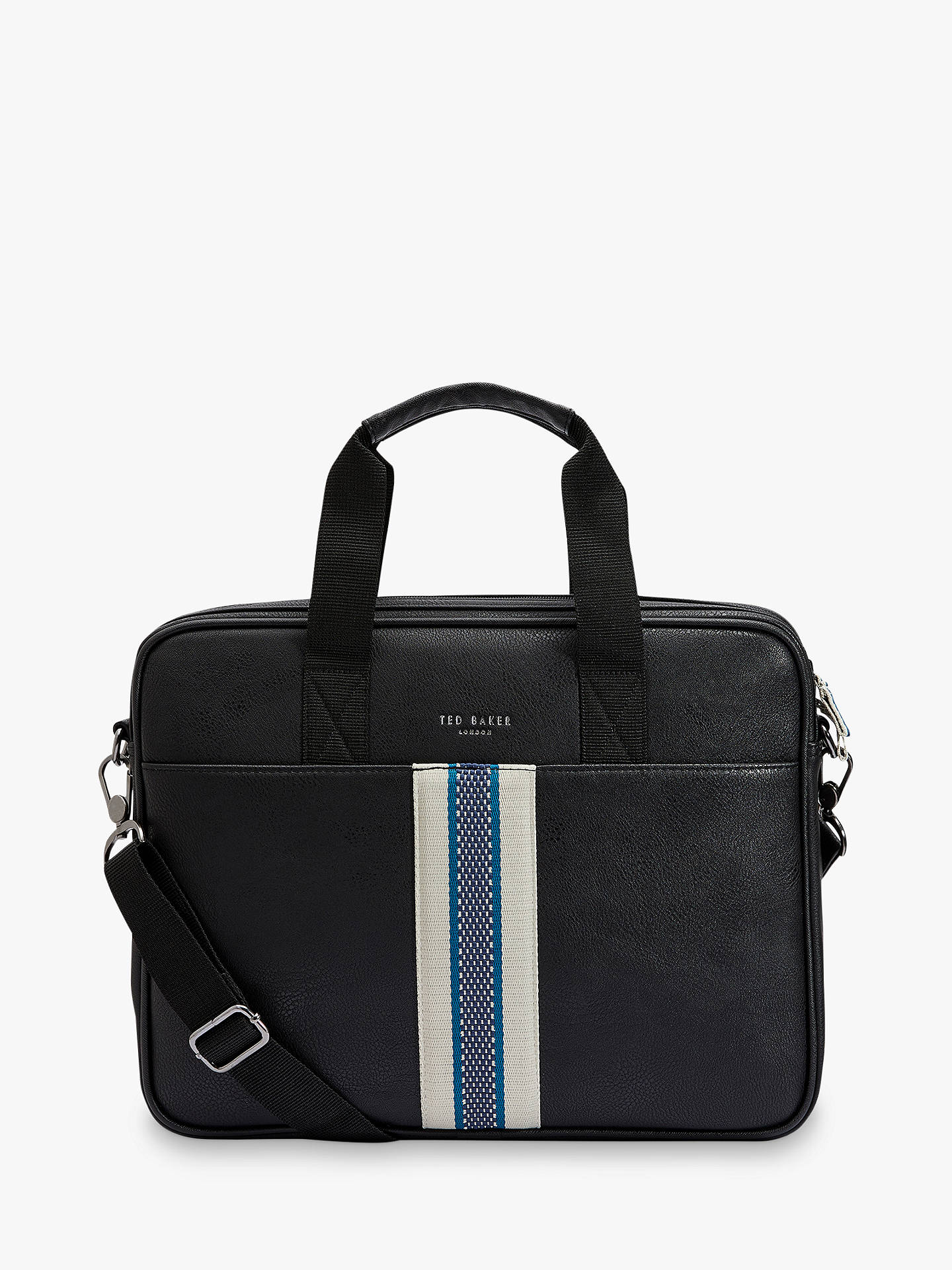 49e701a50b7 Buy Ted Baker Coopar Webbing Document Bag, Black Online at johnlewis.com ...