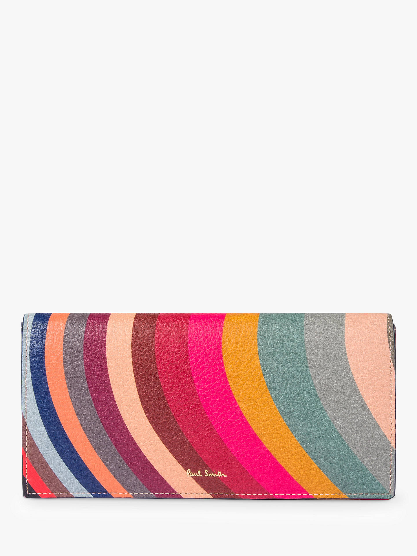 9d3af9b709f3 Buy Paul Smith Leather Tri-Fold Purse, Swirl Online at johnlewis.com ...