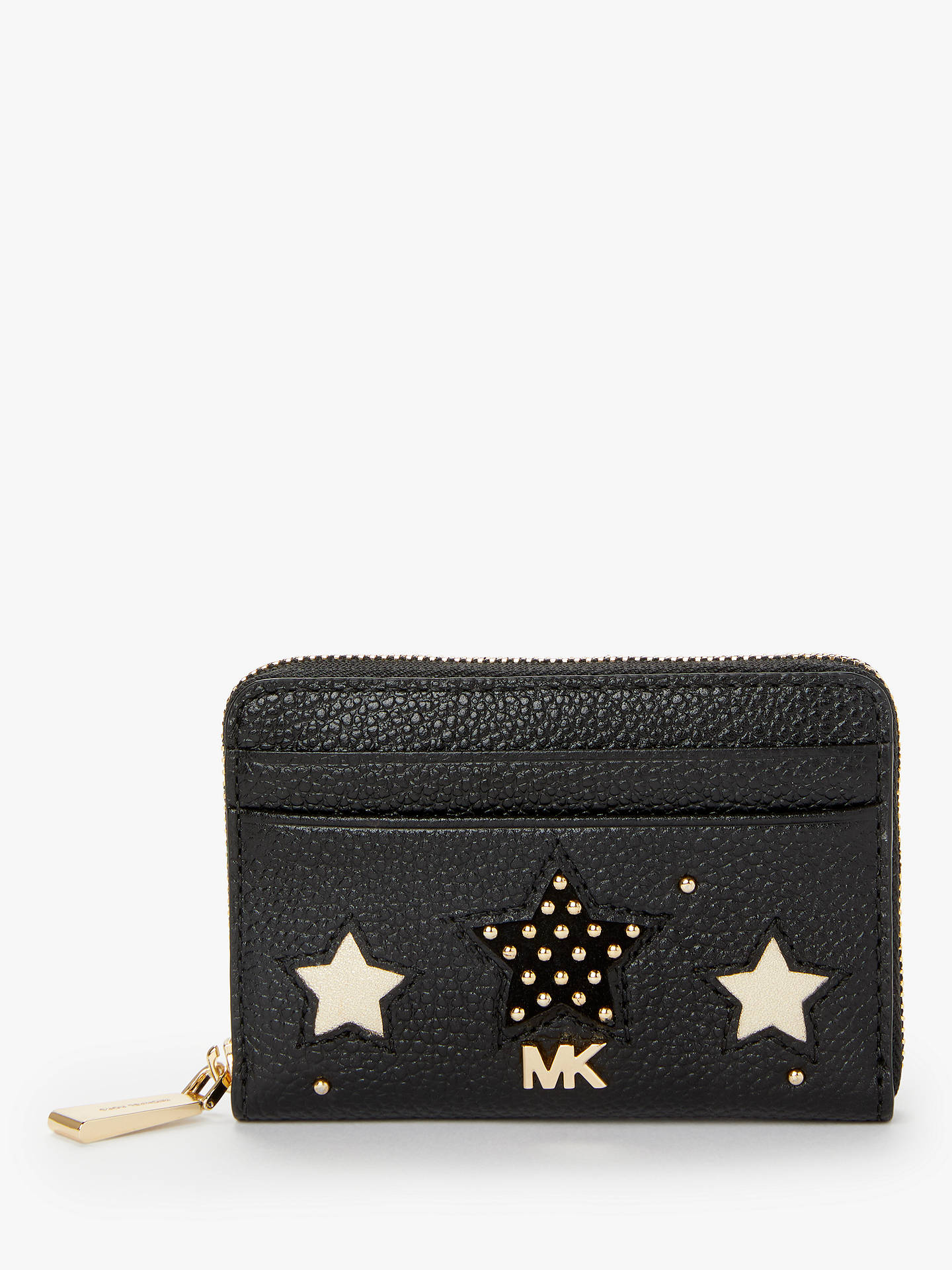 322c29d79521 Buy MICHAEL Michael Kors Money Pieces Leather Star Card Purse, Black/Gold  Online at ...