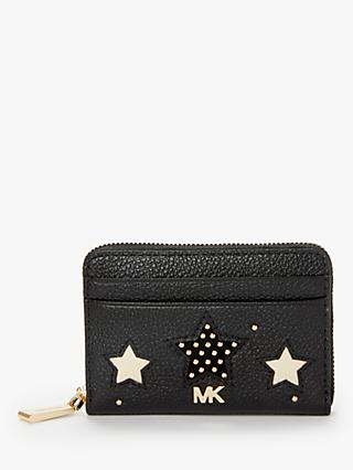 7a88ed548f MICHAEL Michael Kors Money Pieces Leather Star Card Purse