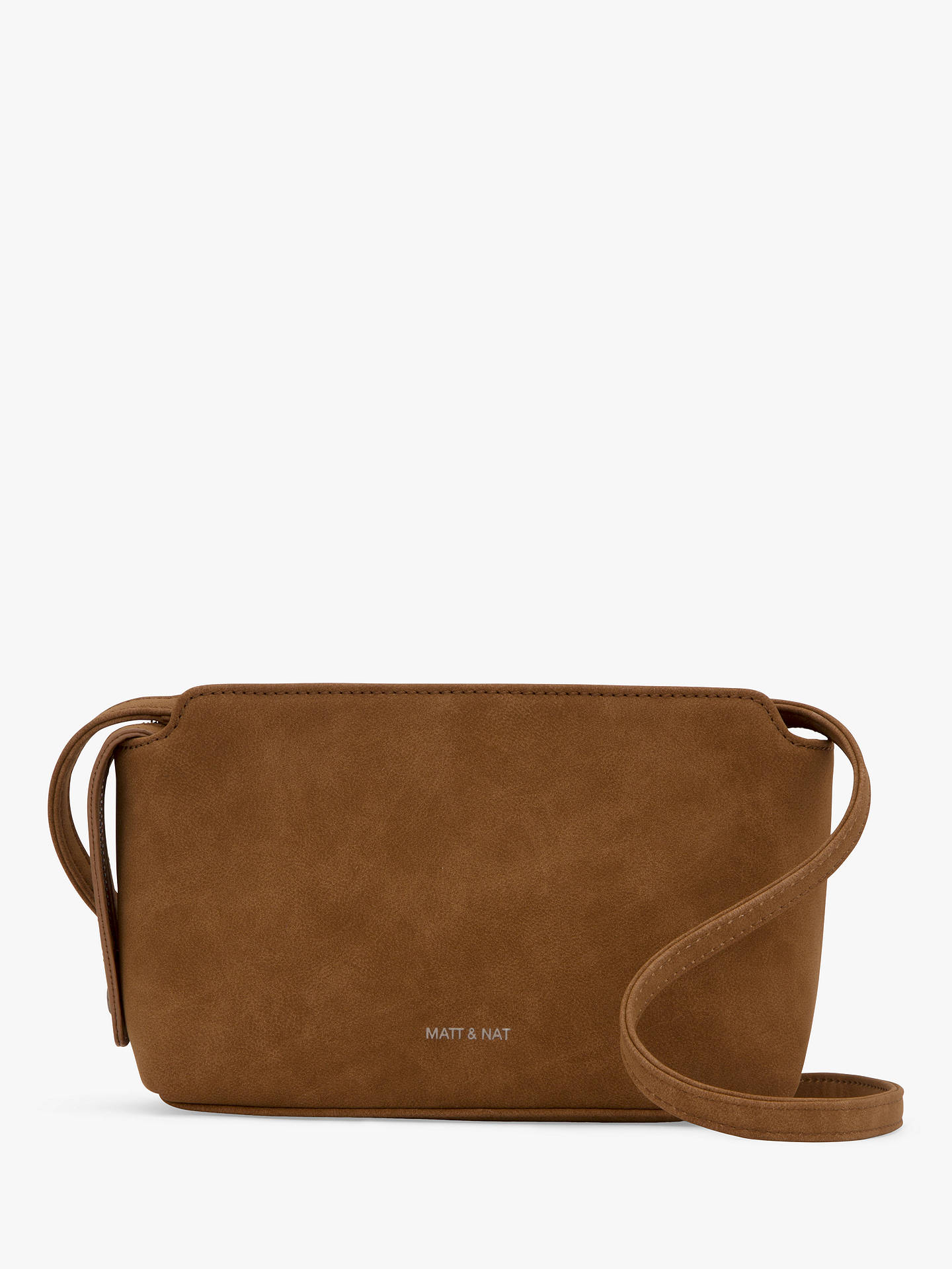 9cd25d6e921 Buy Matt & Nat Raven Vegan Cross Body Bag, Cognac Online at johnlewis. ...