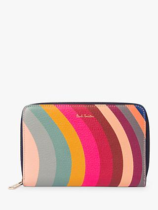Paul Smith Leather Medium Zip Around Purse, Swirl