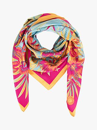 f9927b31ddbf Powder Monkey Floral Satin Square Scarf
