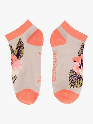 Powder Tropical Print Trainer Socks, Multi