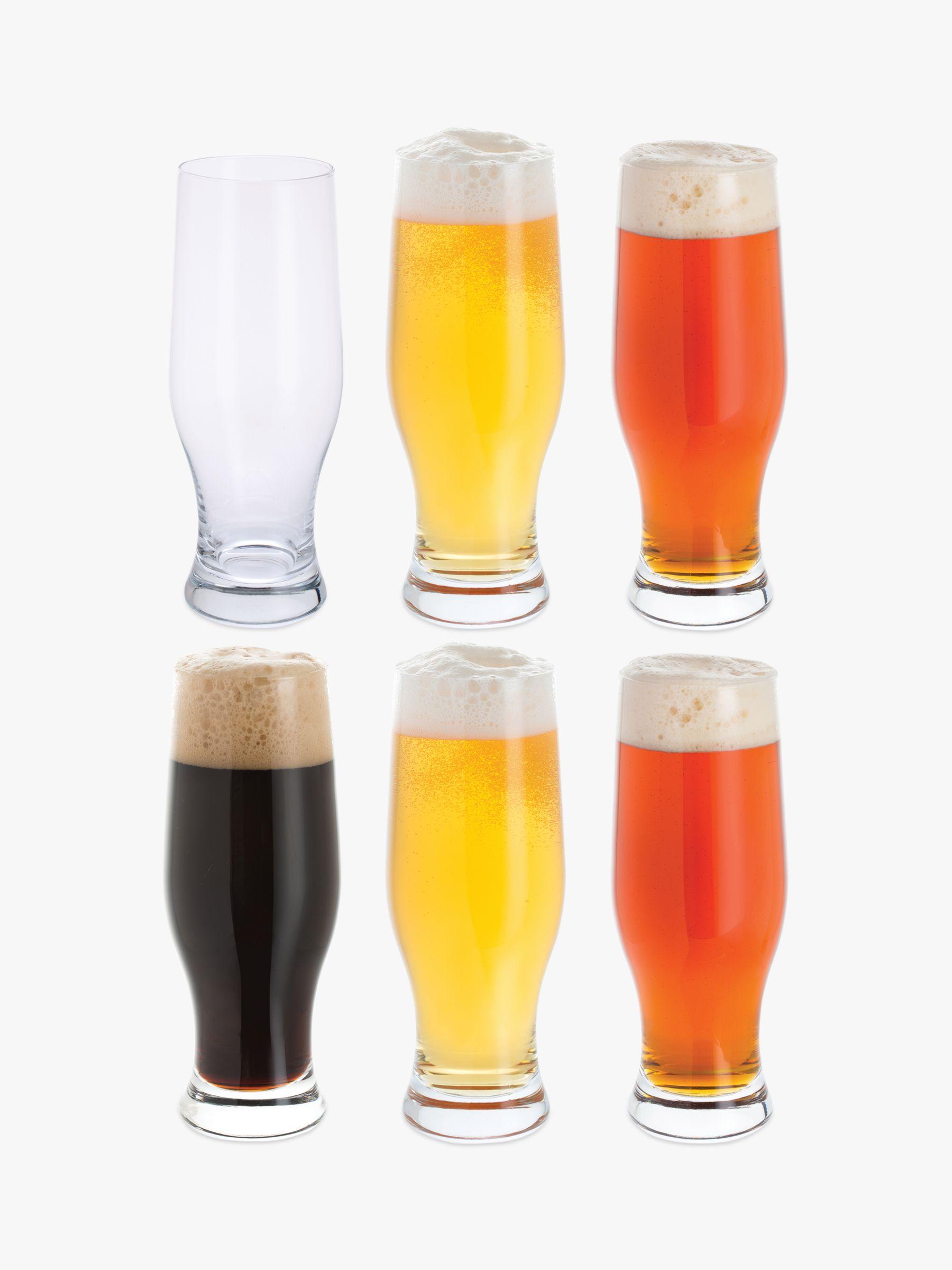 Dartington Crystal Dartington Crystal Beer Party Pack Glasses, Set of 6, 500ml, Clear
