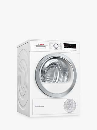 Bosch Series 4 WTW85231GB Heat Pump Freestanding Tumble Dryer, 8kg, A++ Energy Rating, White