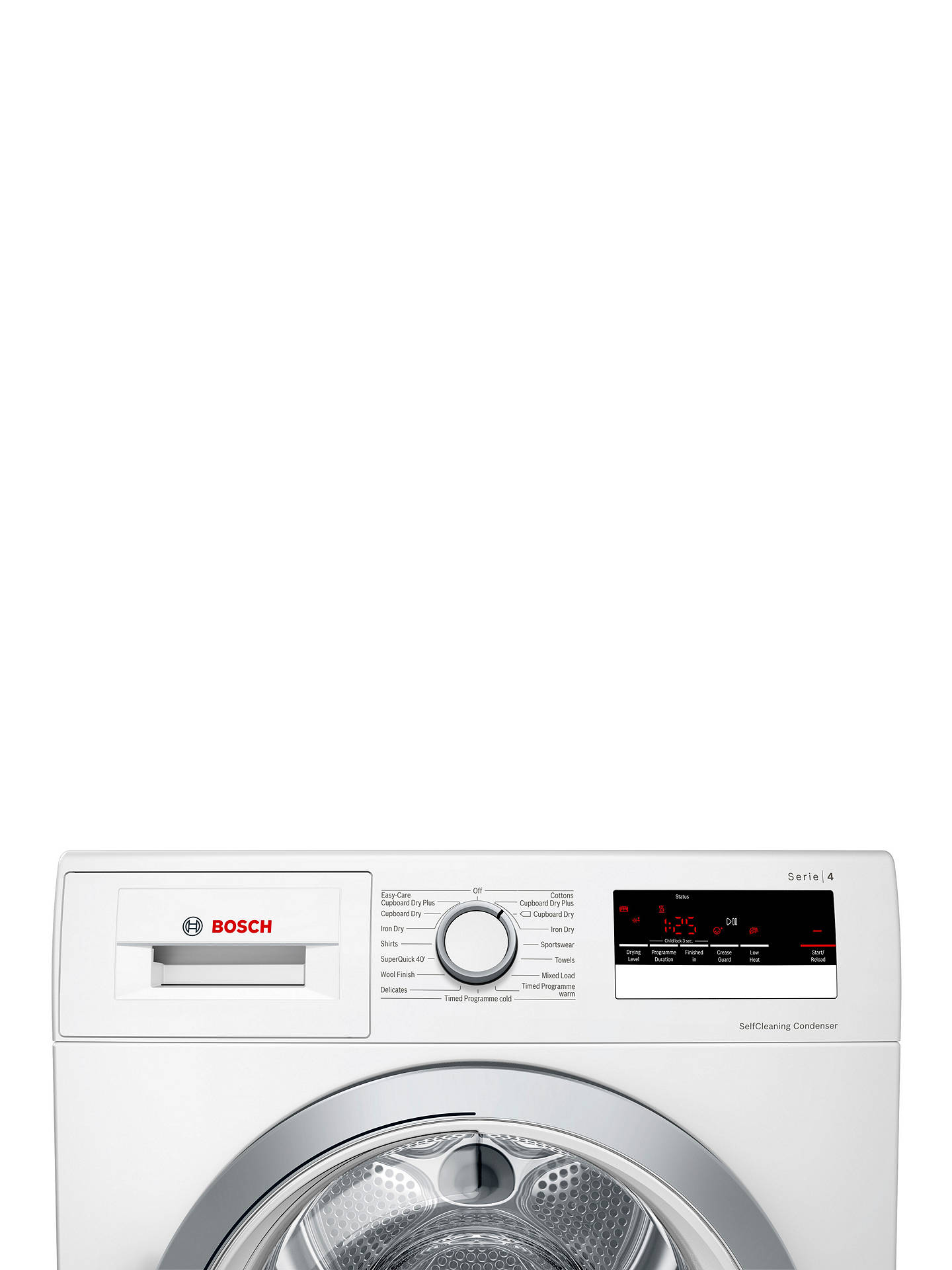 BuyBosch Serie 4 WTW85231GB Heat Pump Freestanding Tumble Dryer, 8kg, A++ Energy Rating, White Online at johnlewis.com