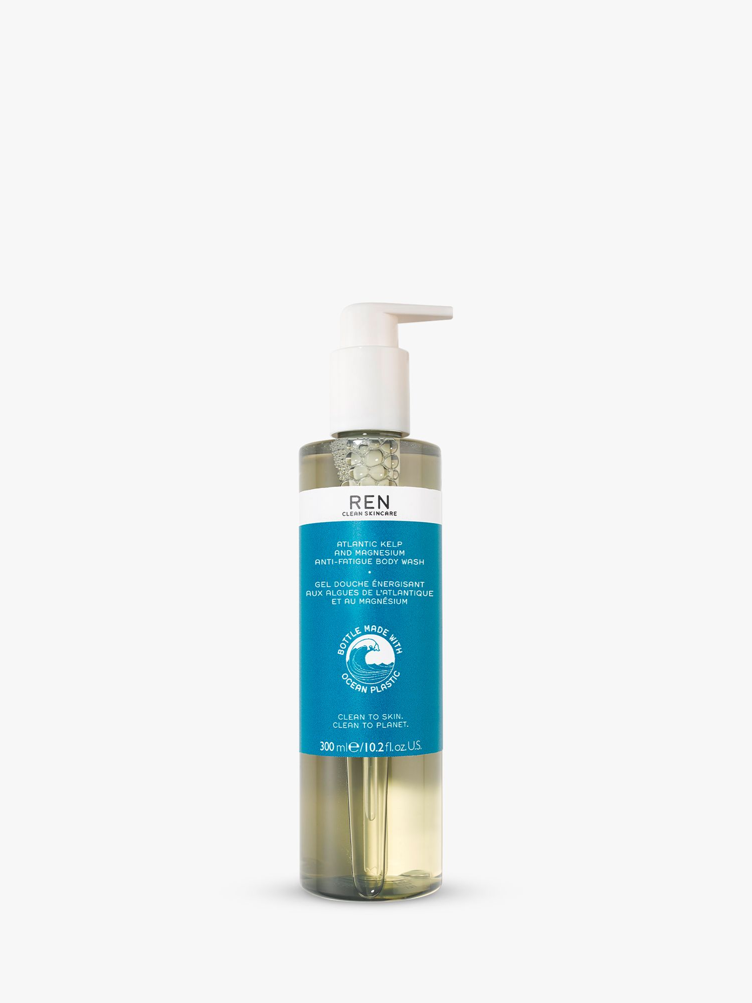 REN Clean Skincare Atlantic Kelp & Magnesium Anti-Fatigue Body Wash, 300ml