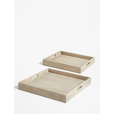Croft Collection Burford Garden Trays, Set of 2, FSC-Certified (Eucalyptus Wood), Natural