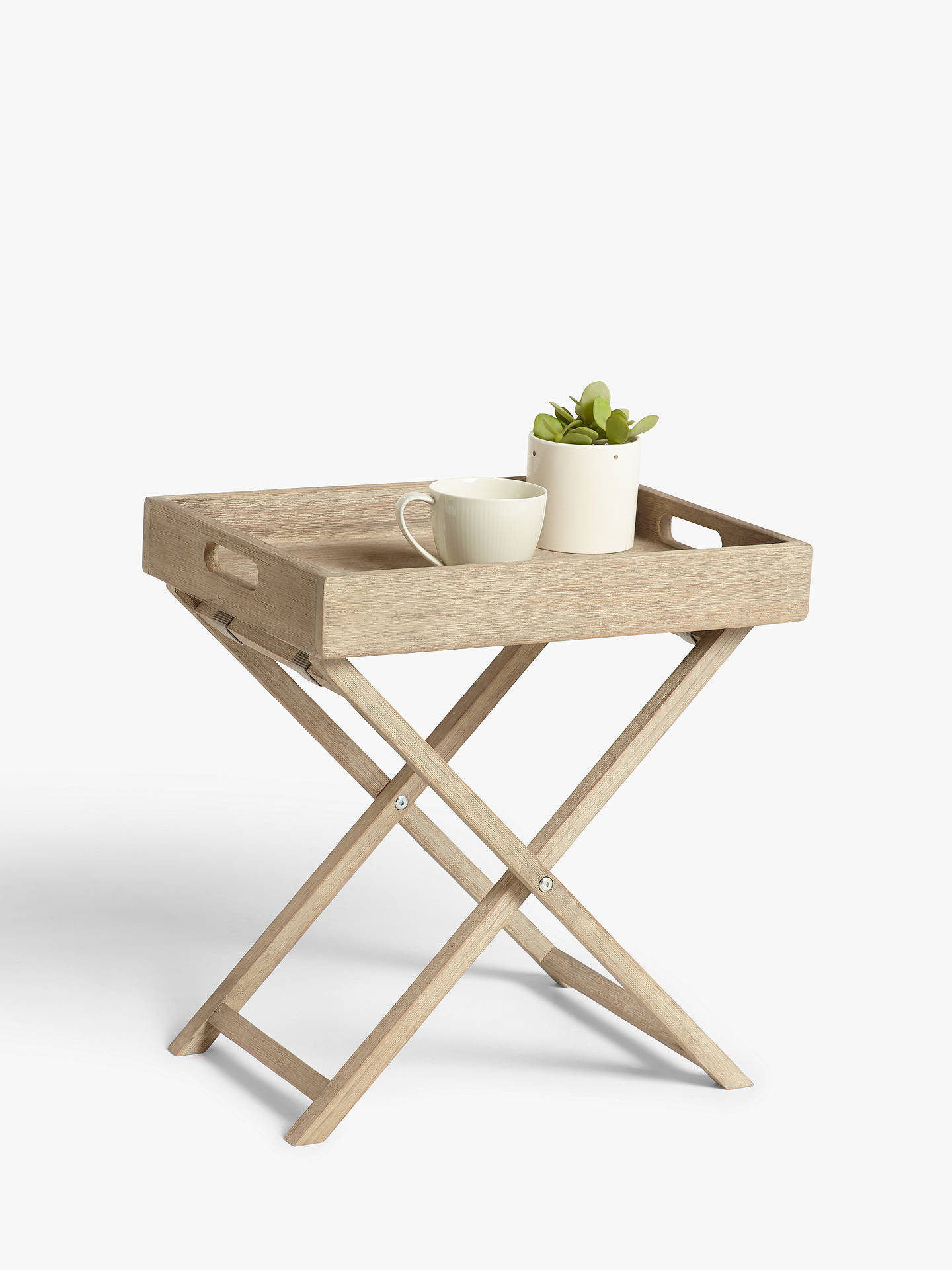 Croft Collection Burford Garden Small Tray Table Fsc Certified Eucalyptus Wood Natural