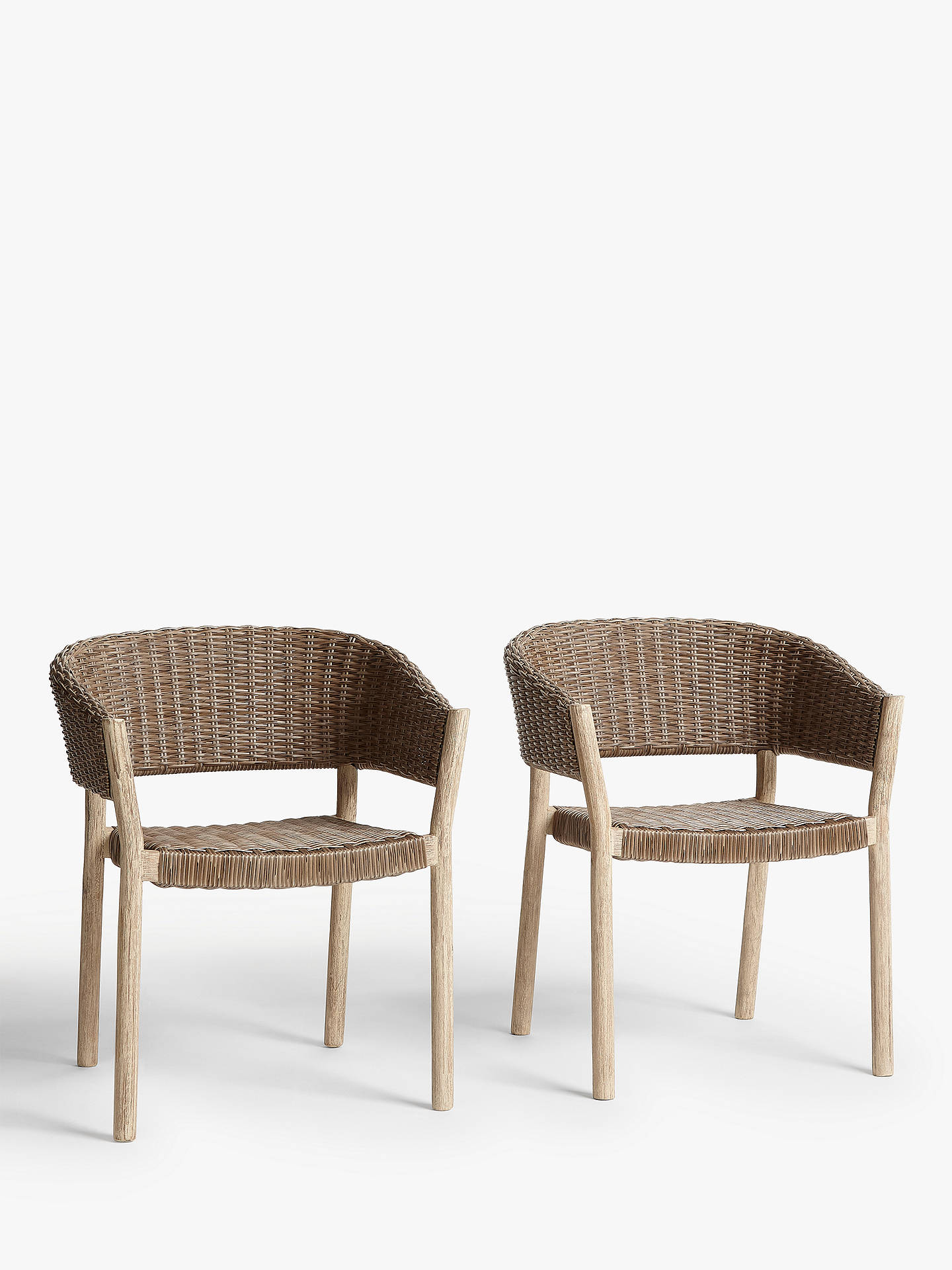 Buycroft collection burford garden woven dining chairs set of 2 fsc certified