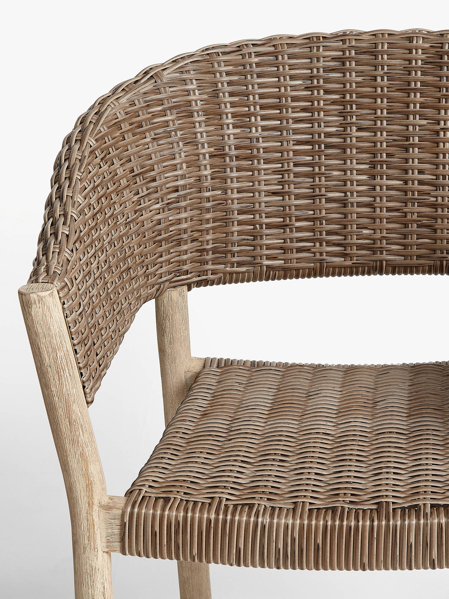 Croft Collection Burford Garden Woven Dining Chairs Set Of 2 Fsc Certified Acacia Wood Natural