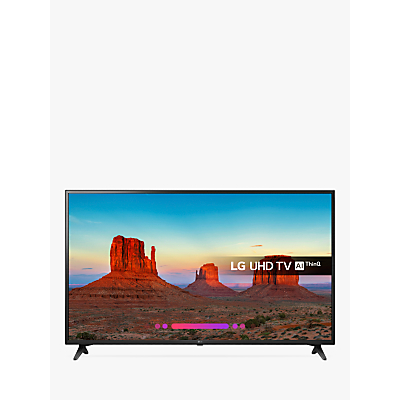 LG 60UK6200PLA LED HDR 4K Ultra HD Smart TV, 60 with Freeview Play/Freesat HD, Ultra HD Certified, Black