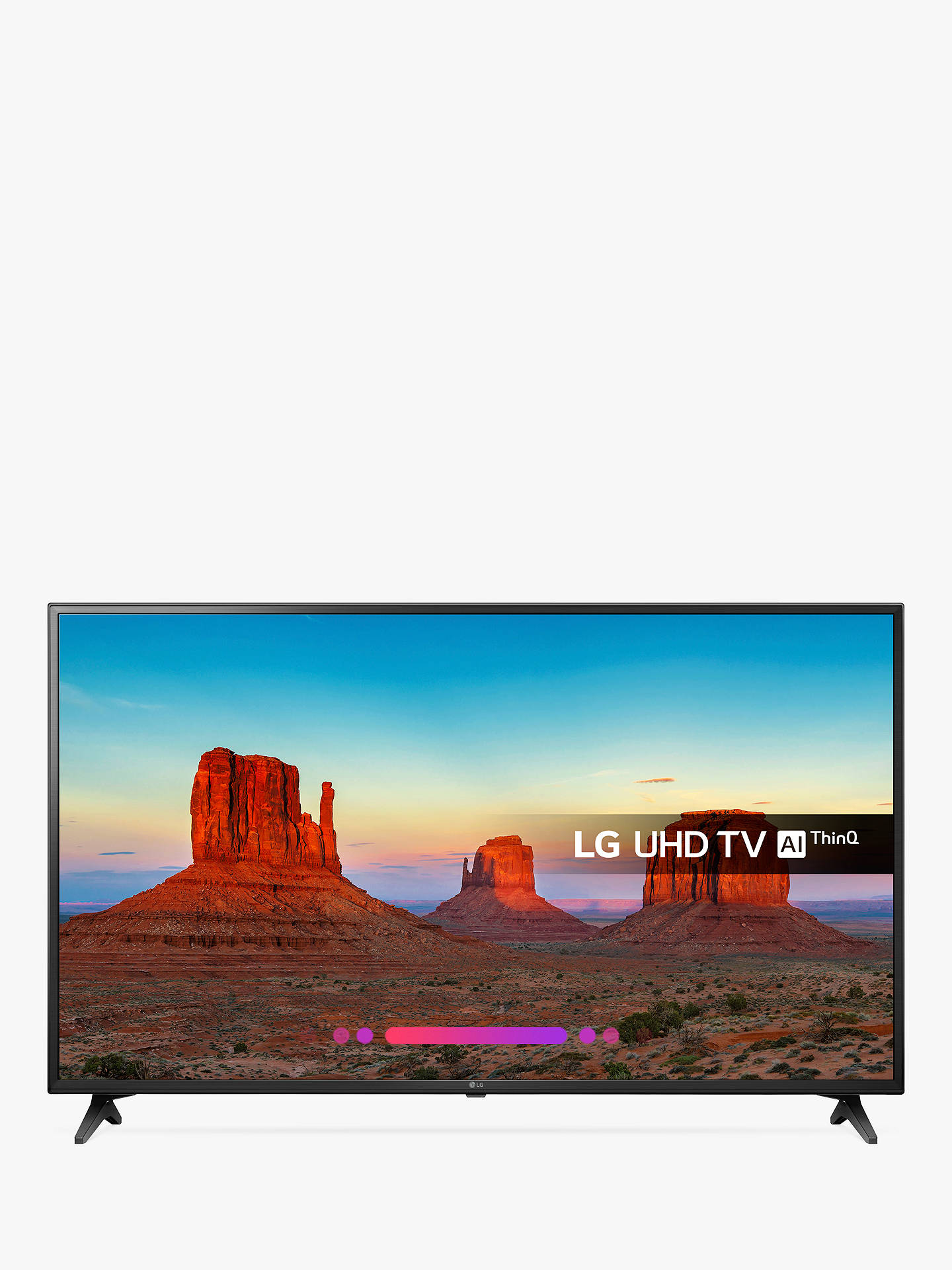 "BuyLG 60UK6200PLA LED HDR 4K Ultra HD Smart TV, 60"" with Freeview Play/Freesat HD, Ultra HD Certified, Black Online at johnlewis.com"