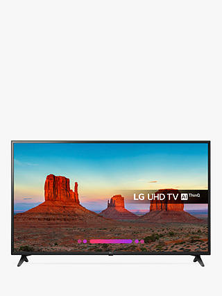 "Buy LG 60UK6200PLA LED HDR 4K Ultra HD Smart TV, 60"" with Freeview Play/Freesat HD, Ultra HD Certified, Black Online at johnlewis.com"