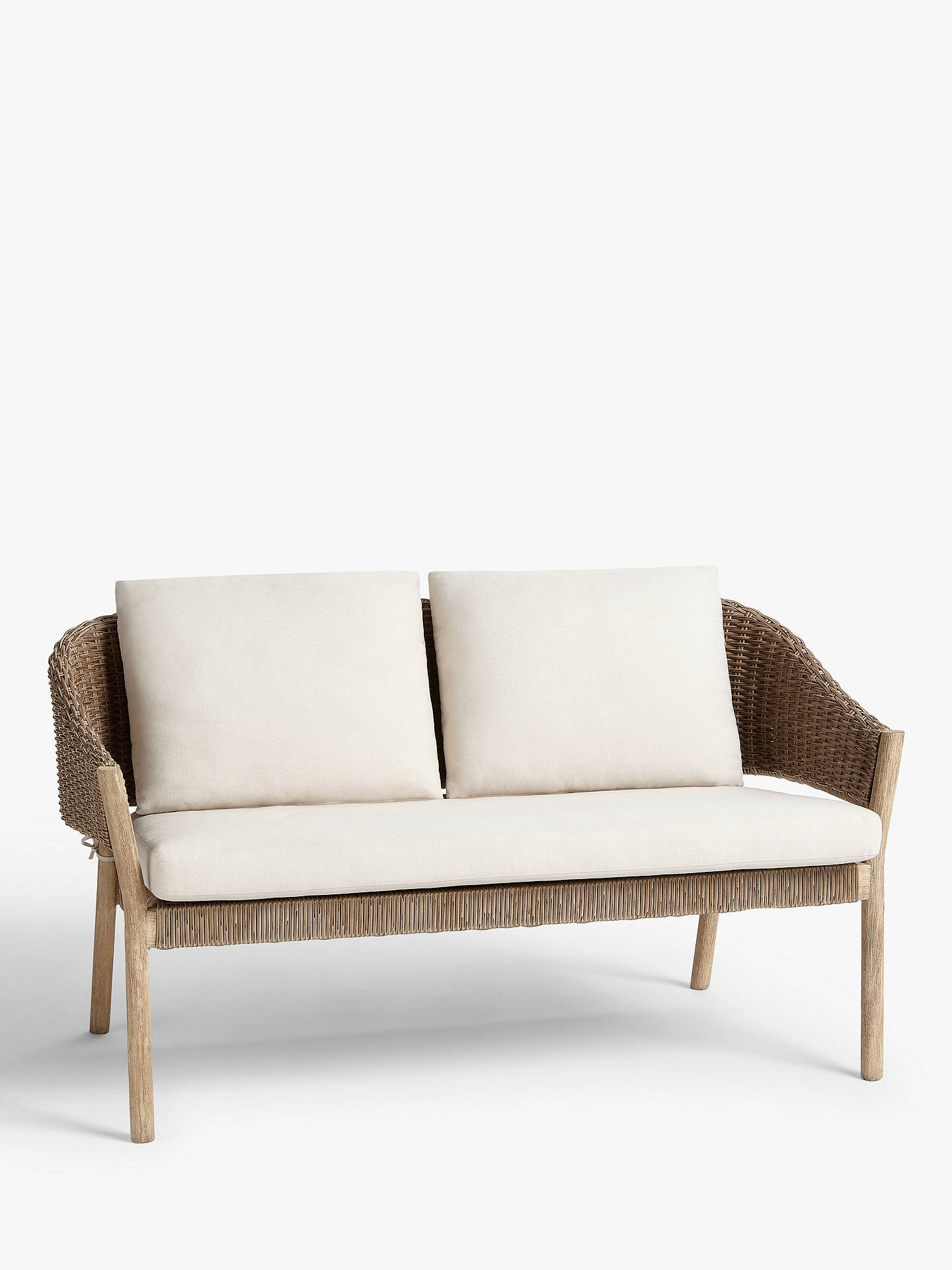 Croft Collection Burford Garden Woven 2 Seat Sofa Fsc Certified Acacia Wood Natural