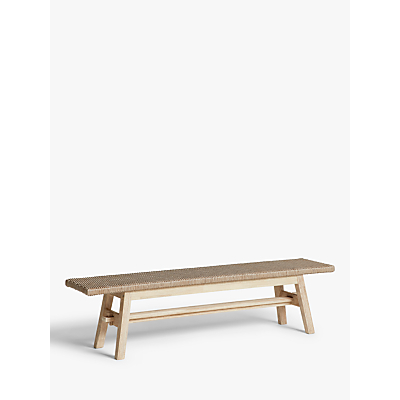 Croft Collection Burford Garden Woven Bench, FSC-Certified (Acacia Wood), Natural