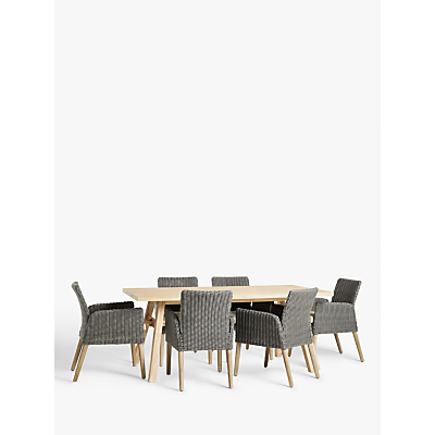 Croft Collection Burford Garden 6-Seat Dining Table, FSC-Certified (Acacia Wood), Natural