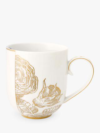 PiP Studio Royal White Large Mug, White/Gold, 325ml