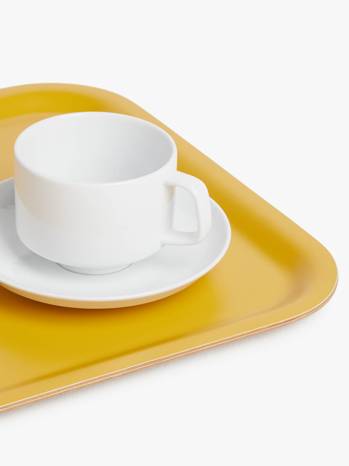 Buy House by John Lewis Wood Tray, Mustard Online at johnlewis.com