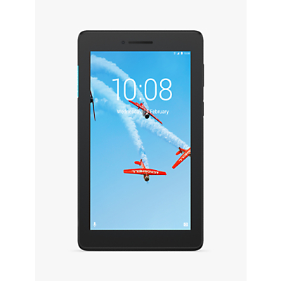 Image of Lenovo Tab E7 Tablet, Android, Wi-Fi, 1GB RAM, 16GB eMCP, 7, Slate Black