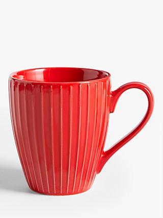 House by John Lewis Ribbed Mug, 370ml