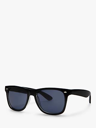 John Lewis & Partners Wayfarer Sunglasses, Black