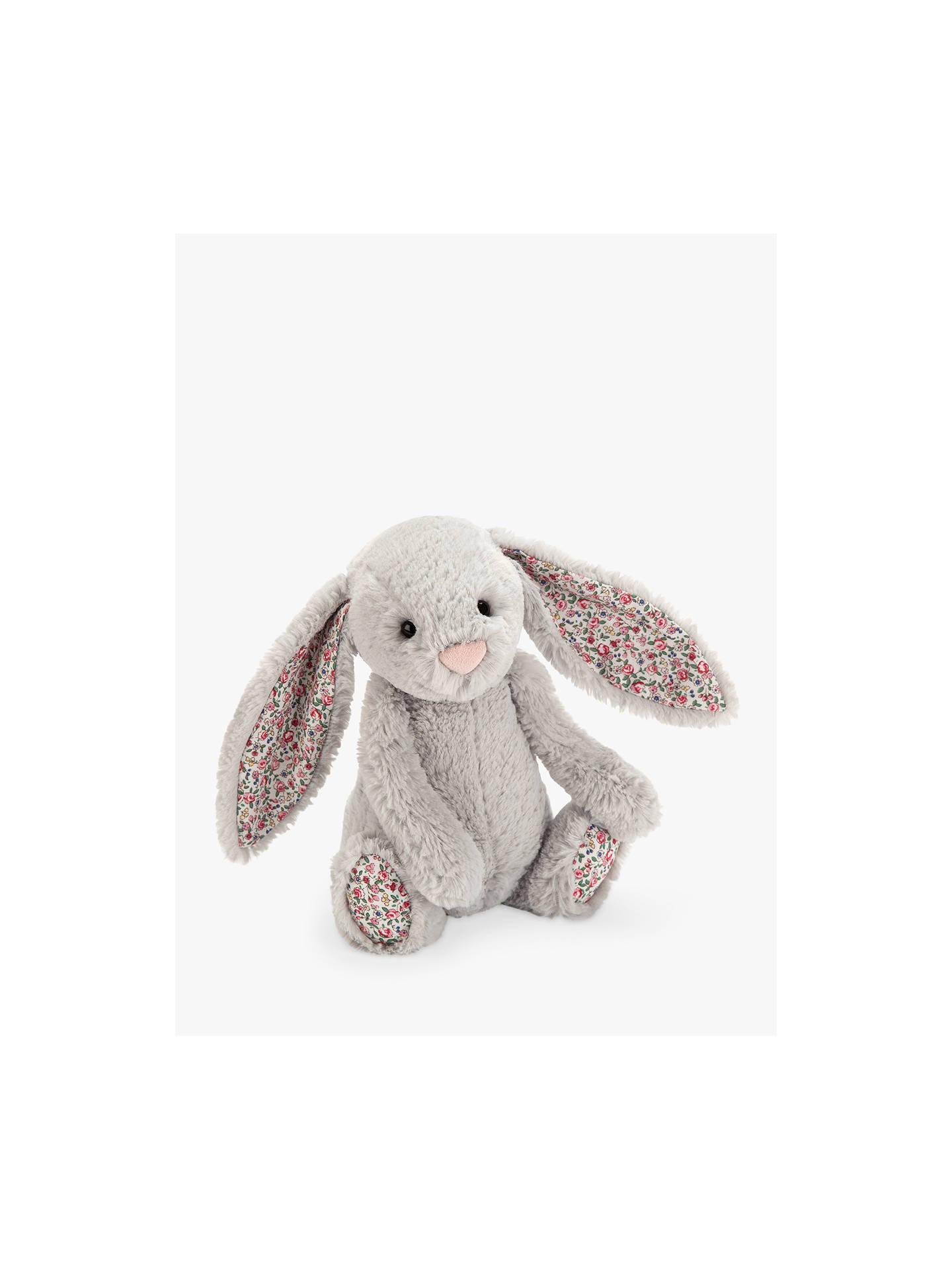 26794ef00215 Buy Jellycat Blossom Bunny Soft Toy, Small, Silver Online at johnlewis.com