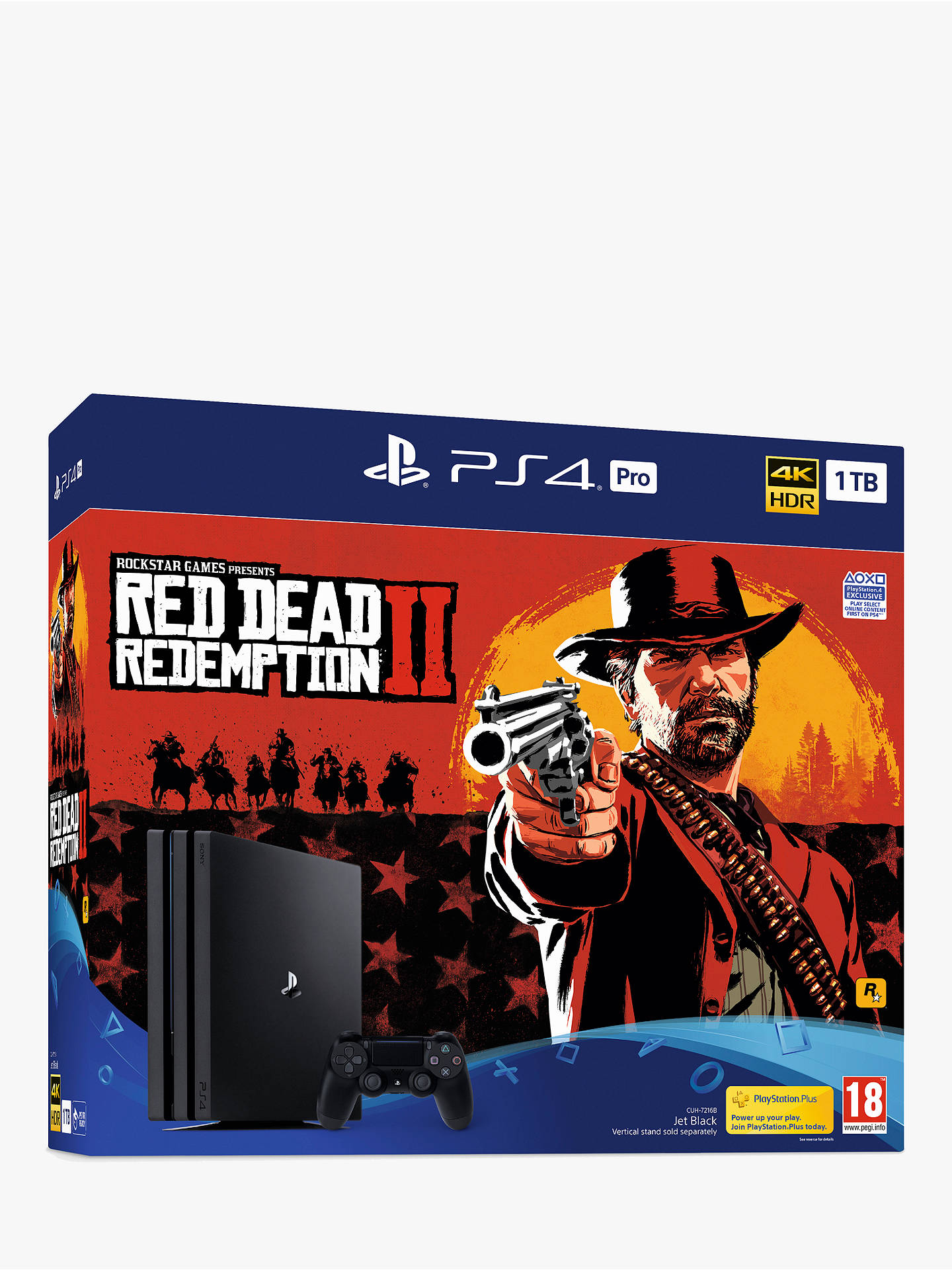 Buy Sony PlayStation 4 Pro Console, 1TB with DUALSHOCK 4 Controller and Red Dead Redemption 2 Bundle Online at johnlewis.com