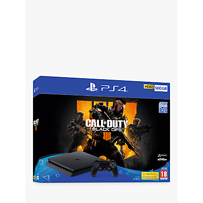 Image of PlayStation 4 (500GB) Black Console with Call of Duty Black Ops 4