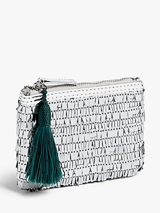 John Lewis & Partners Sequin Purse, Silver