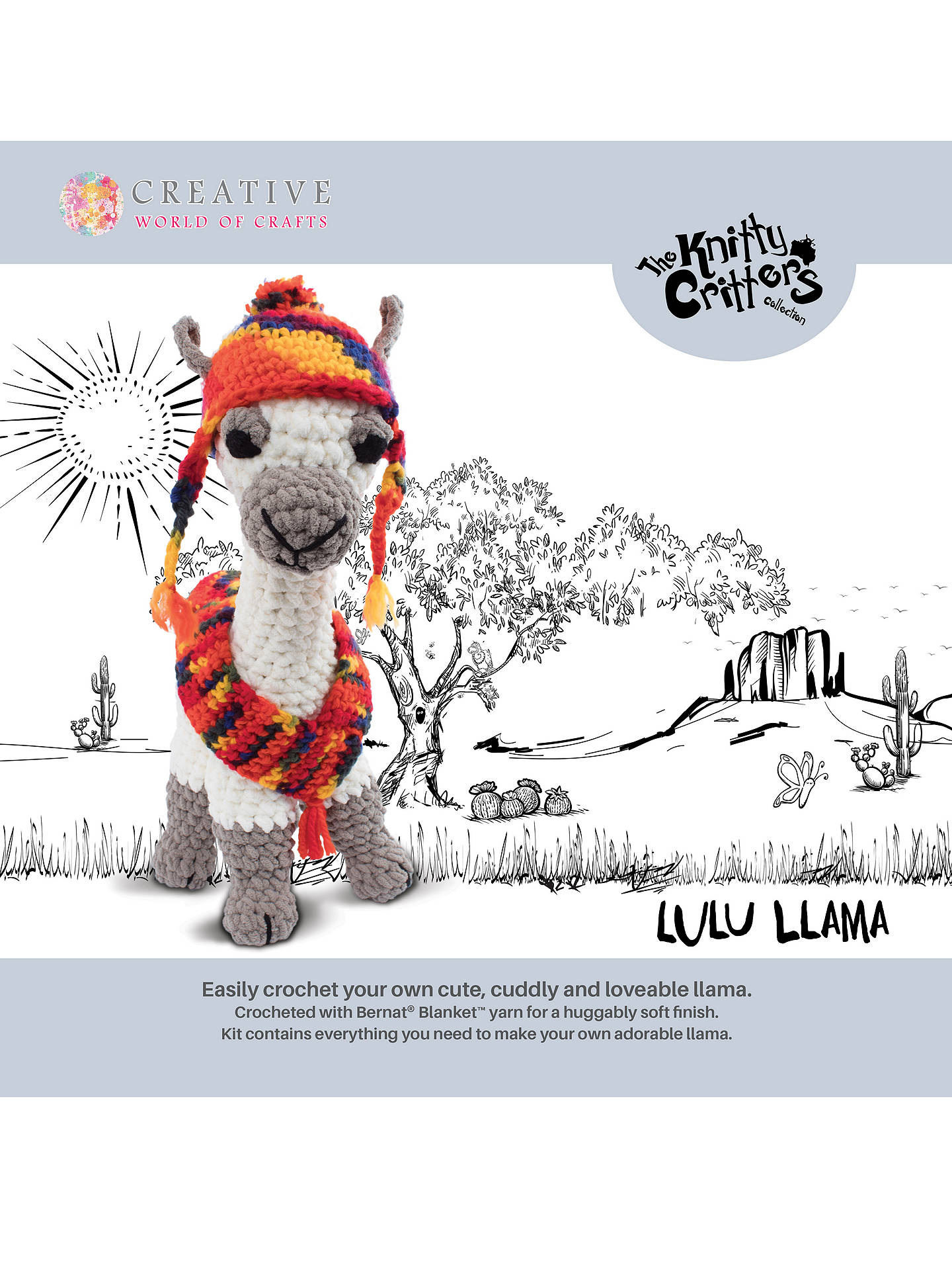 Knitty Critters Lulu Llama Crochet Kit