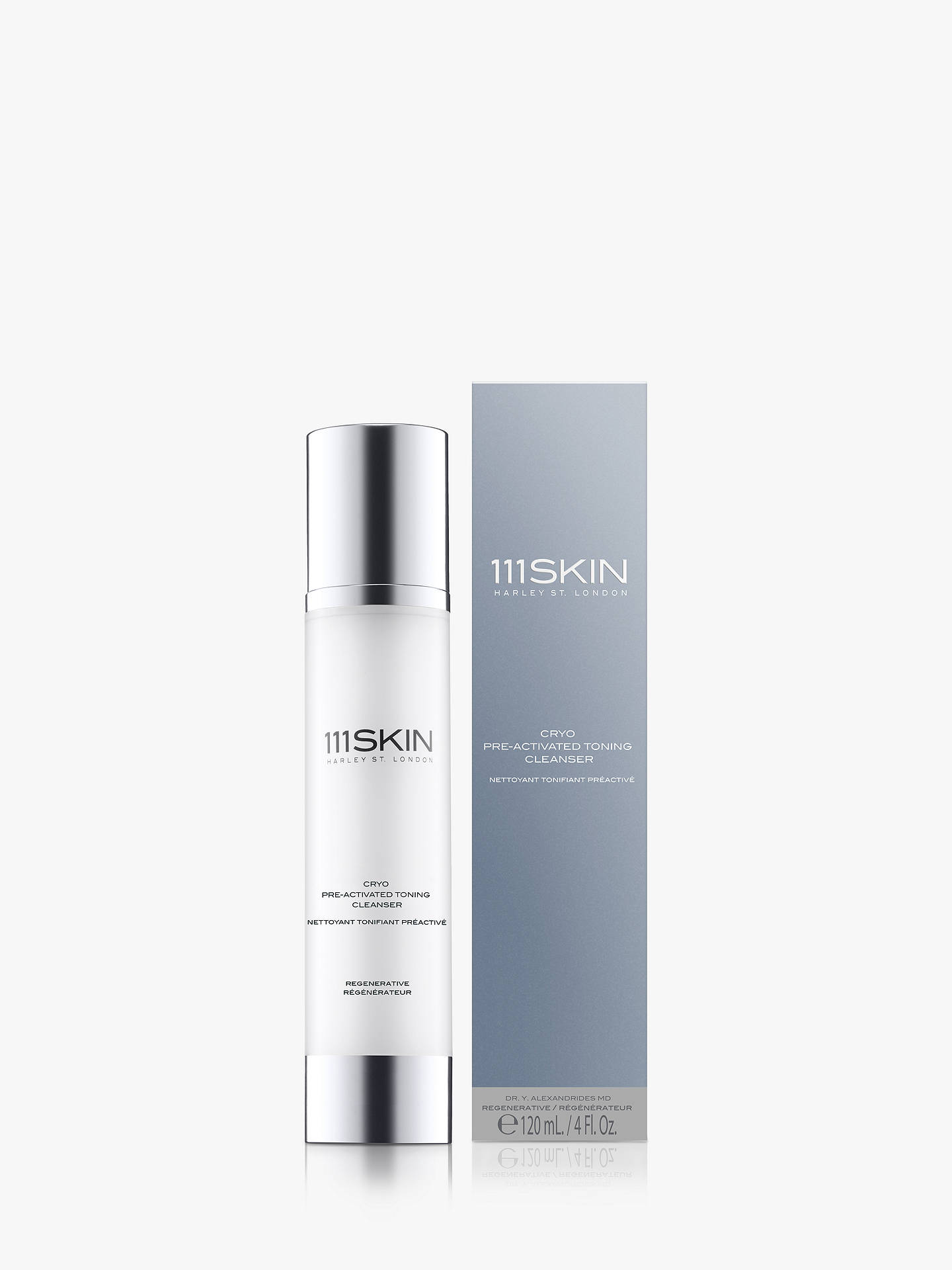 Buy 111SKIN Cryo Pre-Activated Toning Cleanser, 120ml Online at johnlewis.com