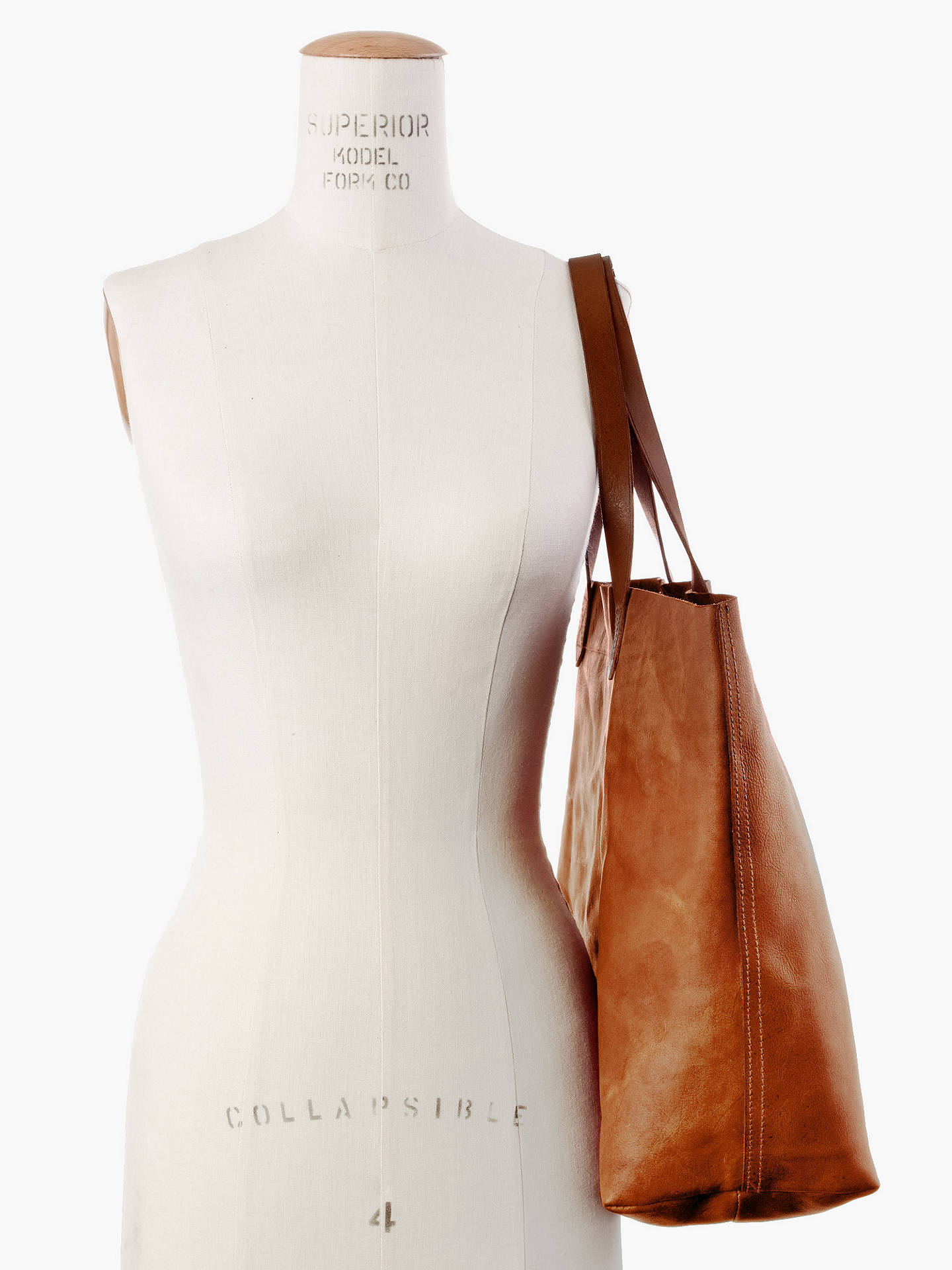 c061f3c0c40a ... Buy Madewell Transport Leather Tote Bag, Brown Online at johnlewis.com