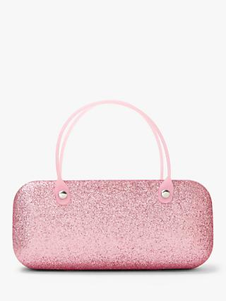 John Lewis & Partners Glitter Sunglasses Case, Pink