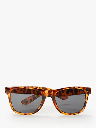 John Lewis & Partners Children's Wayfarer Tortoiseshell Sunglasses, Brown