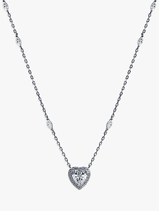 CARAT* London Heart Pendant Necklace, Silver