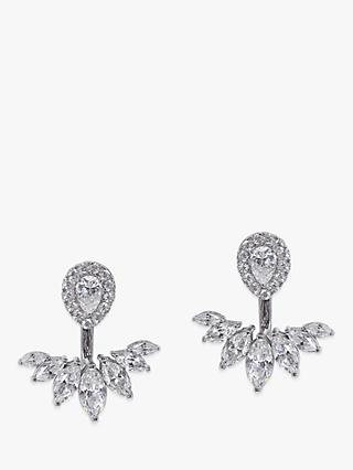 CARAT* London Srya 2 in 1 Ear Jackets and Stud Earrings, Silver