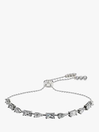 CARAT* London Madison Single Row Adjustable Bracelet, Silver