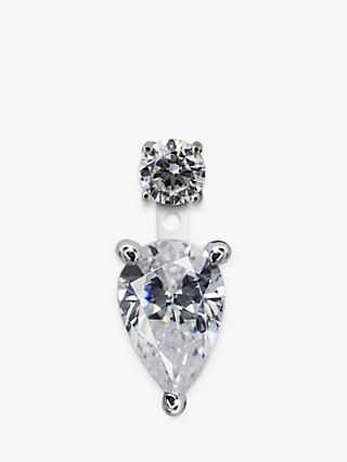 CARAT* London Pear 2 in 1 Drop Single Earring, Silver