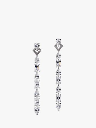 CARAT* London Madison Long Drop Earrings, Silver
