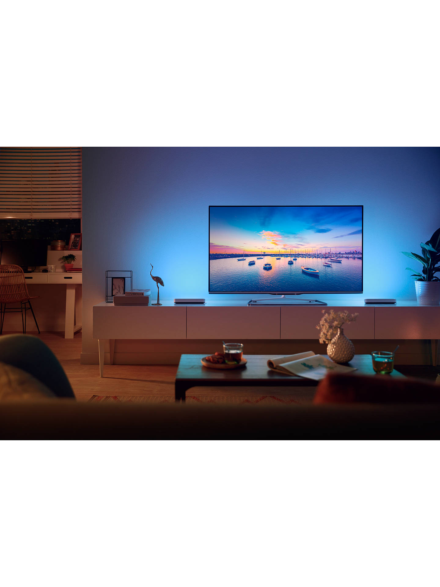 Philips Hue White and Colour Ambiance Play Wireless Lighting Adjustable  Colour Changing Light Bar, Single, White