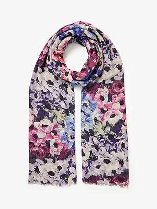 Modern Rarity Wool and Silk Anemone Bloom Scarf, Multi