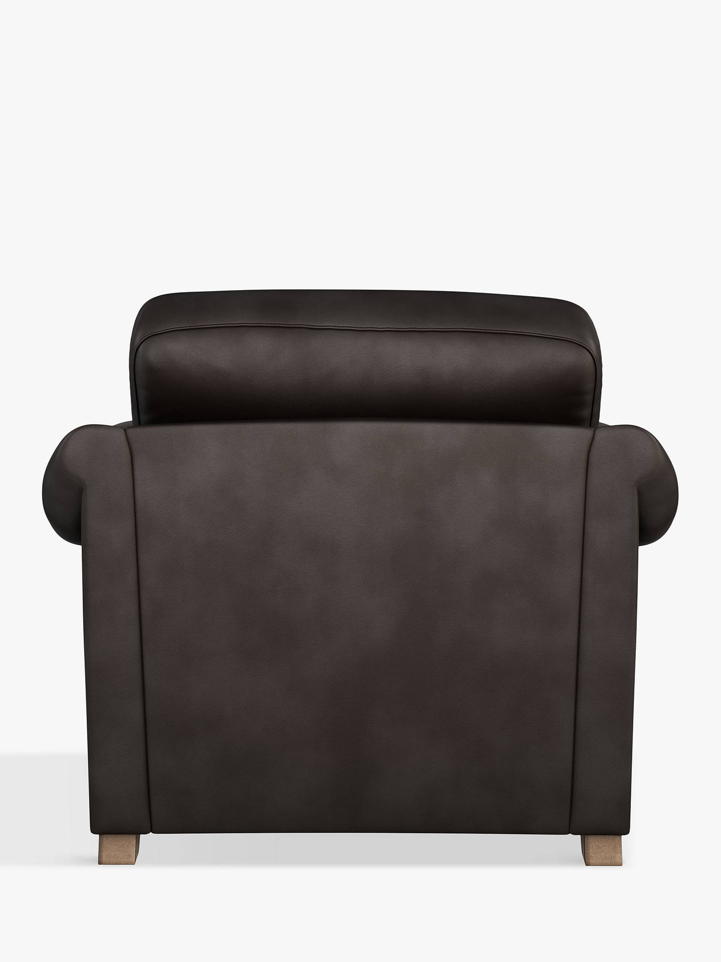 Buy John Lewis & Partners Camber Leather Snuggler, Dark Leg, Contempo Dark Chocolate Online at johnlewis.com