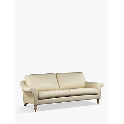 John Lewis & Partners Camber Grand 4 Seater Leather Sofa, Dark Leg