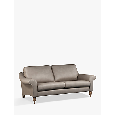John Lewis & Partners Camber Large 3 Seater Leather Sofa, Dark Leg